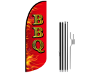 10ft BBQ Stock Blade Flag with Ground Stake 01