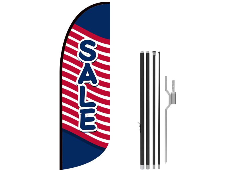 10ft SALE Stock Blade Flag with Ground Stake 03