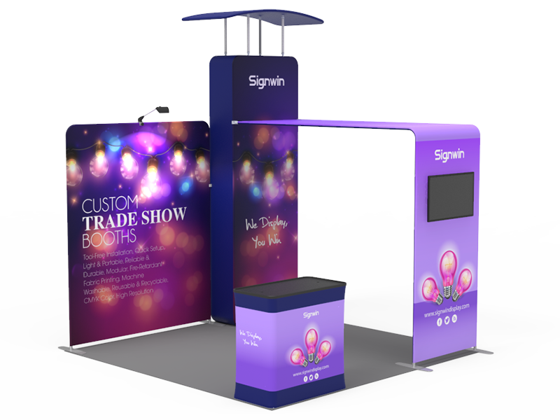 10x10ft Custom Trade Show Booth 07