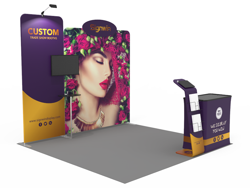10x10ft Custom Trade Show Booth 14