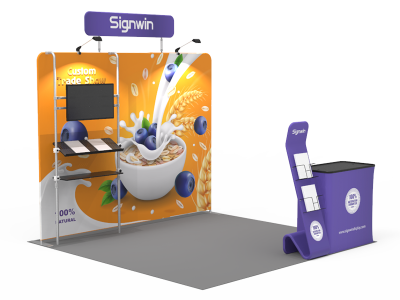 10x10ft Custom Trade Show Booth 18