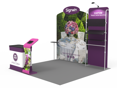 10x10ft Custom Trade Show Booth 20