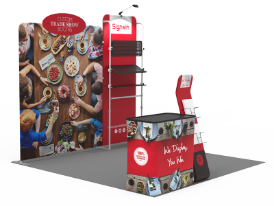 10x10ft Custom Trade Show Booth 22