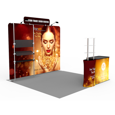 10x10ft Custom Trade Show Booth D