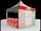 10x10 Custom Pop Up Canopy Tent & Single-Sided Full Backwall & 2 x Single-Sided Half Sidewalls