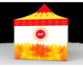 10x10 Custom Pop Up Canopy Tent & 4 x Single-Sided Full Walls