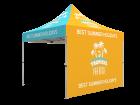 10x10 Custom Pop Up Canopy Tent & Double-Sided Full Backwall