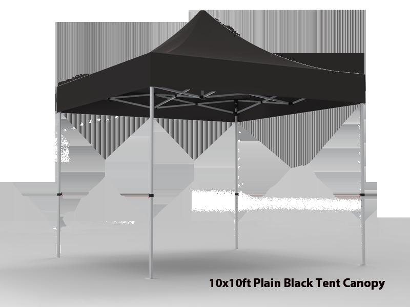 10x10 Unprinted Black Pop Up Event Tent Canopy
