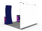 Custom 10x10ft Standard Monitor Table Trade Show Display Booth Kit 27 (Frame + Graphic)