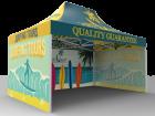 10x15 Custom Pop Up Canopy Tent & Single-Sided Full Backwall & 2 x Single-Sided Full Sidewalls