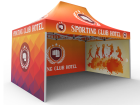 10x15 Custom Pop Up Canopy Tent & Double-Sided Full Backwall & 2 x Double-Sided Full Sidewalls