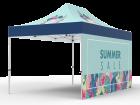 10x15 Custom Pop Up Canopy Tent & Single-Sided Full Backwall