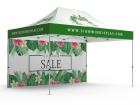 10x15 Custom Pop Up Canopy Tent & Double-Sided Full Backwall
