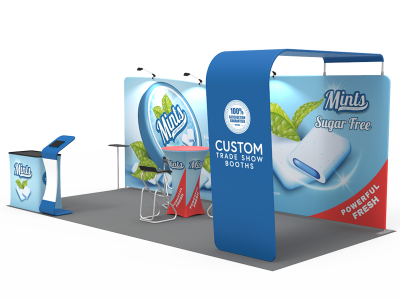 10x20ft Custom Trade Show Booth 13