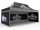 10x20 Custom Pop Up Canopy Tent & Double-Sided Full Backwall & 2 x Double-Sided Full Sidewalls