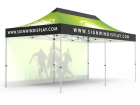 10x20 Custom Pop Up Canopy Tent & Single-Sided Full Backwall