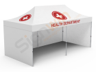 Medical/Quarantine/Isolation Tent 10x20 White with 3-Sided Full Walls 01