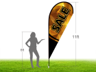 11ft SALE Stock Teardrop Flag with Ground Stake 04