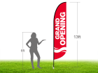 13ft GRAND OPENING Stock Blade Flag with Ground Stake 06
