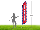 13ft NOW LEASING Stock Blade Flag with Ground Stake 02