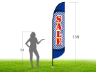 13ft SALE Stock Blade Flag with Ground Stake 05
