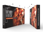 Custom 15ft Straight & Easy Fabric Pop Up Trade Show Backwall Display (Frame + Graphic)
