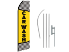16ft CAR WASH Stock Swooper Flag with Ground Stake 03