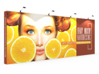 Custom 20ft Straight & Quick Fabric Pop Up Trade Show Backwall Display (Frame + Graphic)