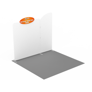 "Custom W35"" x H15"" Oval Acrylic Tension Fabric Header"