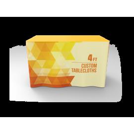 4ft Custom Table Skirt Logo Printing