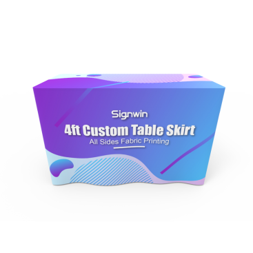 4ft Custom Table Skirt Logo Printing