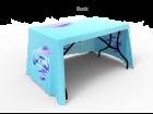 4ft 3-Sided Stylish Custom Printing Loose Table Throw