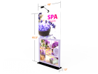 Custom 4ft Flat & Portable Tension Fabric Trade Show Backwall Display (Frame + Graphic)