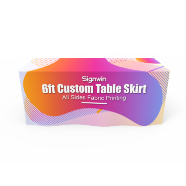 6ft Custom Table Skirt Graphic Printing