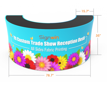7ft Trade Show Reception Desk Graphic Printing