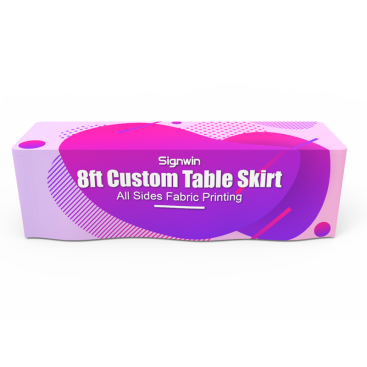 8ft Custom Table Skirt Full Color Printing