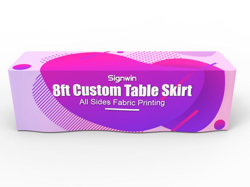 8ft Custom Table Skirt Full Color Printing