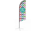 8ft Concave Feather Flag with Cross Base & Water Bag