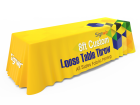 8ft Printed Loose Table Throw in High Resolution