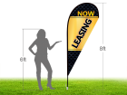 8ft NOW LEASING Stock Teardrop Flag with Ground Stake 02
