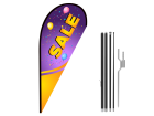 8ft SALE Stock Teardrop Flag with Ground Stake 01