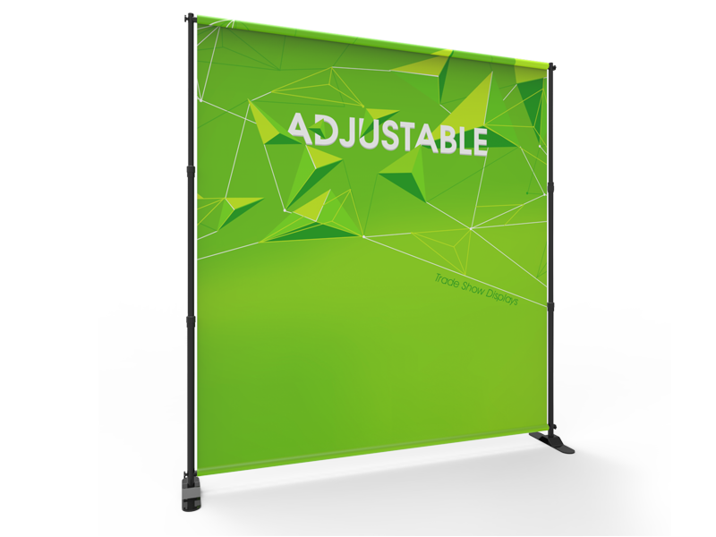 8ft Collapsible Pop Up Display Frame for Tension Fabric Backdrop Prints