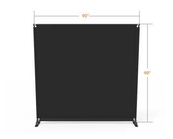 8x8 Stock Unprinted Black & White Large Tube Telescopic Tension Fabric Backdrop Banner Stand