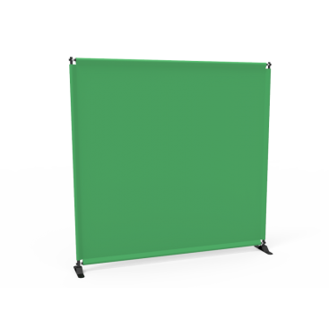 8x8 Stock Green & White Large Tube Telescopic Tension Fabric Backdrop Banner Stand