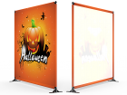 8x8 Halloween Large Tube Telescopic Tension Fabric Backdrop Banner Stand 01