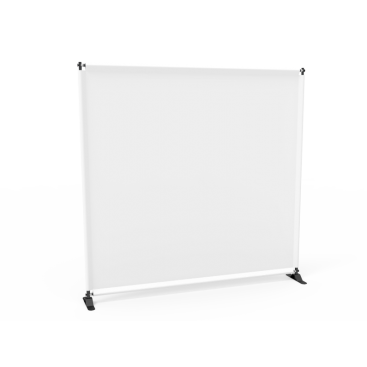 8x8 Stock White Large Tube Telescopic Tension Fabric Backdrop Banner Stand