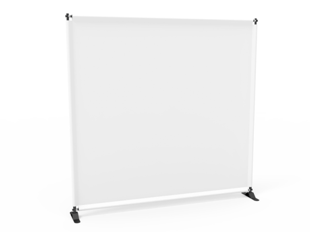 8x8 Stock Unprinted White Large Tube Telescopic Tension Fabric Backdrop Banner Stand