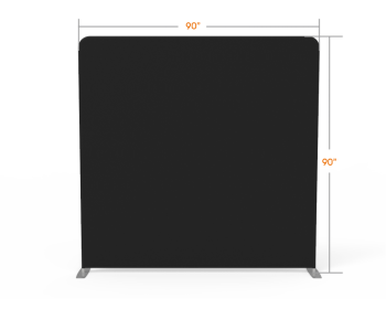 8x8 Stock Black & White Flat Tension Fabric Backdrop Banner Stand