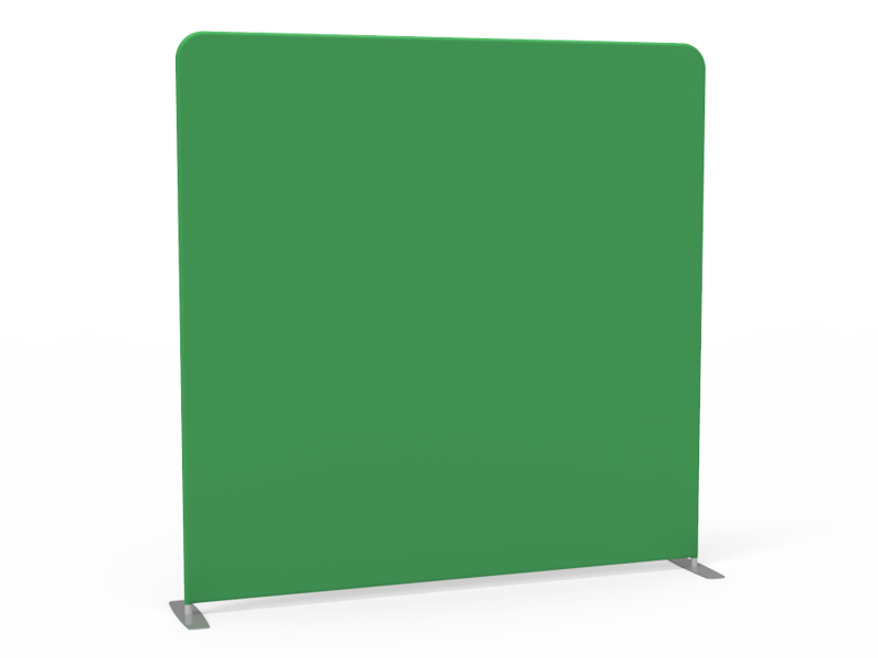 8x8 Stock Green & White Flat Tension Fabric Backdrop Banner Stand