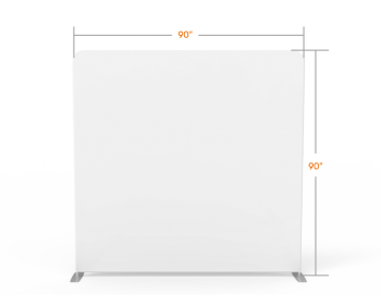 8x8 Stock White Flat Tension Fabric Backdrop Banner Stand